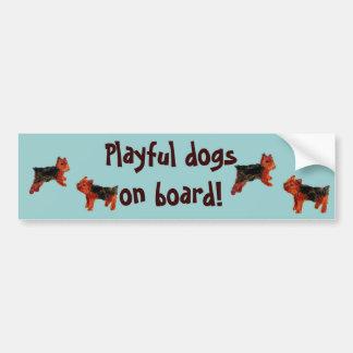 Terrier Fun Dog Art Bumper Sticker