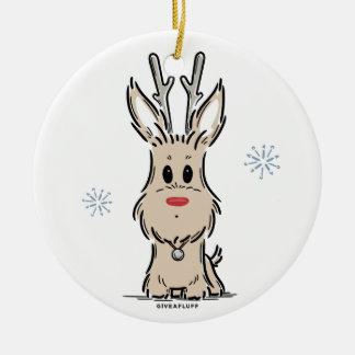 Terrier Reindeer Ornament