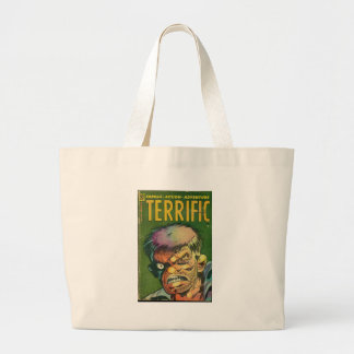 Terrific horror comic book canvas bag