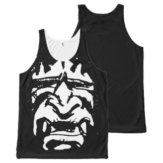 terrifying mask All-Over-Print tank top