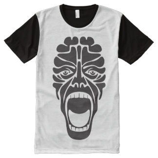 terrifying scream All-Over-Print T-Shirt
