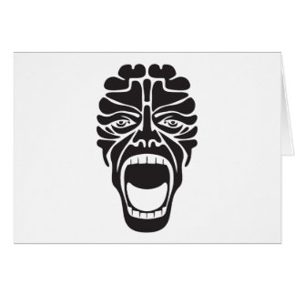 terrifying scream card