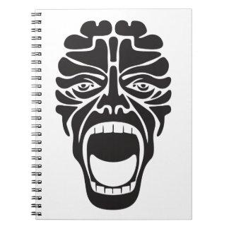 terrifying scream notebook