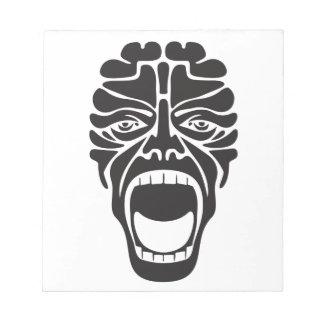 terrifying scream notepad