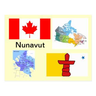 Territoire Canada de Nunavut Carte Postale