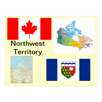 Territoire du nord-ouest Canada Carte Postale