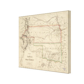 Territory of Kansas and Native Americans Canvas Print