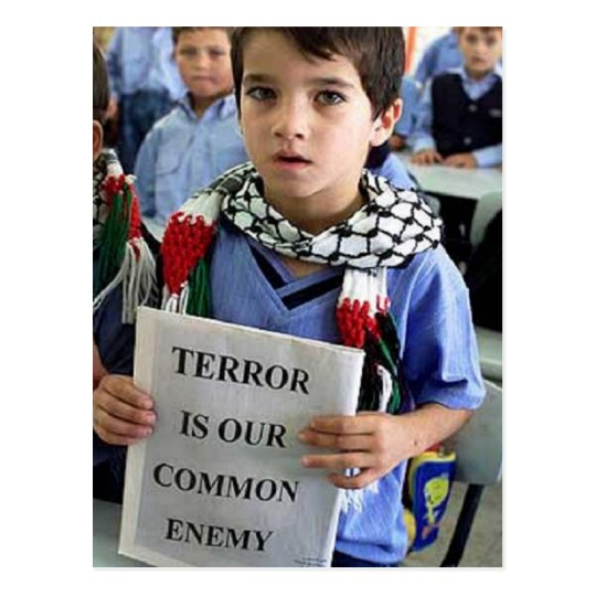 Terror is our common enemy Postcard