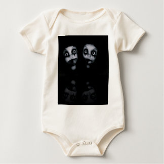 Terror twins haunted dolly product baby bodysuit