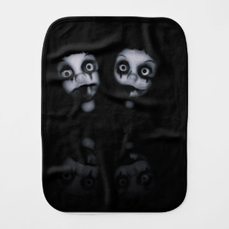 Terror twins haunted dolly product burp cloth