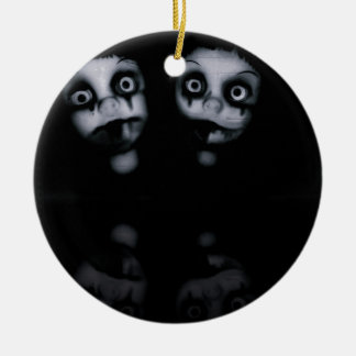 Terror twins haunted dolly product ceramic ornament