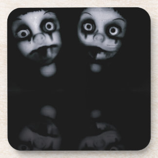 Terror twins haunted dolly product coaster