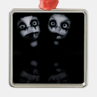 Terror twins haunted dolly product metal ornament