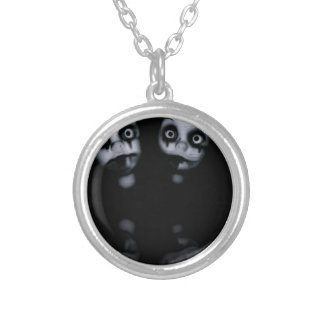 Terror twins haunted dolly product silver plated necklace