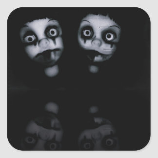 Terror twins haunted dolly product square sticker