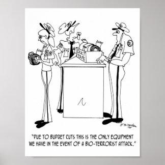 Terrorism Cartoon 7359 Poster