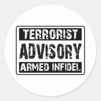 Terrorist Advisory Classic Round Sticker