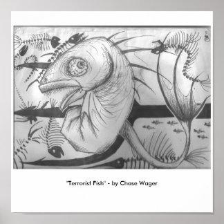 """Terrorist Fish"" Poster"