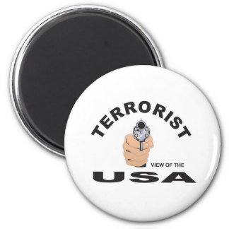 terrorist in the usa 2 inch round magnet