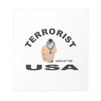 terrorist in the usa notepad