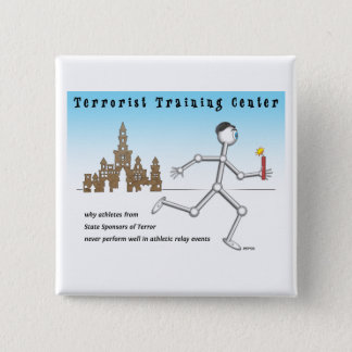 Terrorist Training Center 2 Inch Square Button