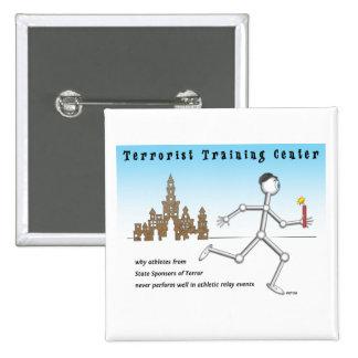 Terrorist Training Center 2 Inch Square Button