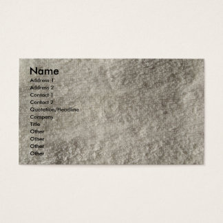 Terry Cloth Towel Business Card