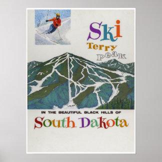 Terry Peak,USA,Ski Travel Poster