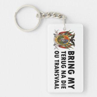 Terug na die ou Transvaal: Suid Afrika (Boer) Keychain
