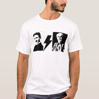 Tesla and Edison - the Original AC/DC. T-Shirt