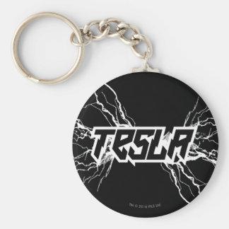 Tesla Basic Round Button Keychain