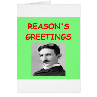 tesla christmas card