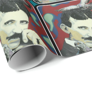 'Tesla Daydreams' on Wrapping Paper