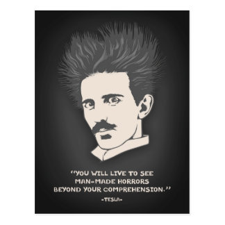 Tesla -Horror Postcard