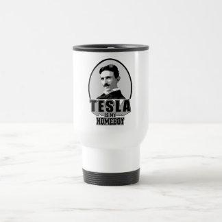Tesla Is My Homeboy 15 Oz Stainless Steel Travel Mug