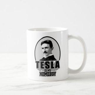 Tesla Is My Homeboy Classic White Coffee Mug