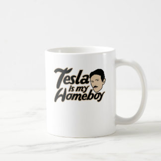 Tesla is my Homeboy Classic White Coffee Mug