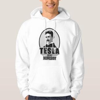Tesla Is My Homeboy Hooded Sweatshirts