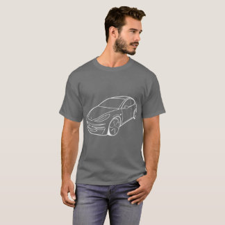 Tesla Model 3, Grey t-shirt men