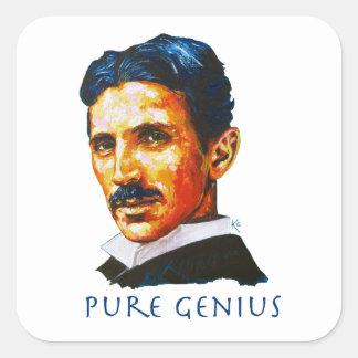 Tesla - Pure Genius Square Sticker