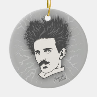 Tesla Static II Ceramic Ornament