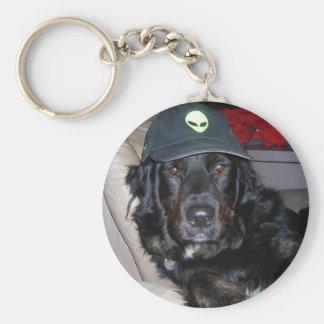 Tesla the alien dog basic round button keychain