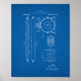 Tesla Valvular Conduit Patent - Blueprint Poster