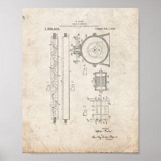 Tesla Valvular Conduit Patent - Old Look Poster