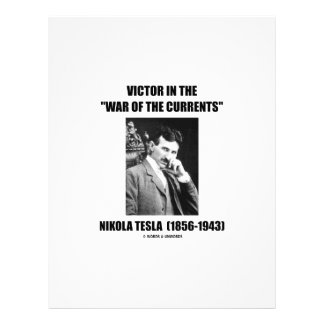 Tesla Victor In the War Of The Currents Physics Customized Letterhead