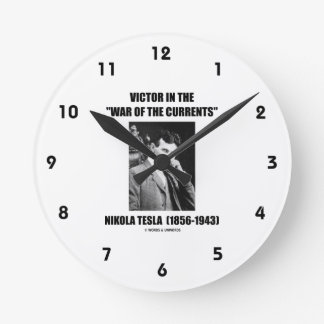 Tesla Victor In The War Of The Currents Physics Wall Clocks