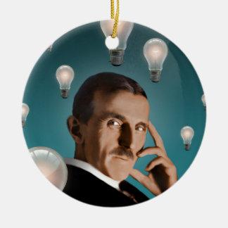 Tesla's Dream Ceramic Ornament