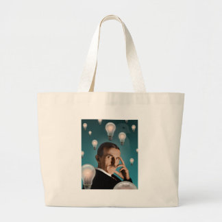 Tesla's Dream Large Tote Bag