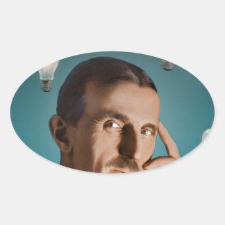Tesla's Dream Oval Sticker