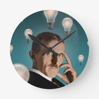 Tesla's Dream Round Clock